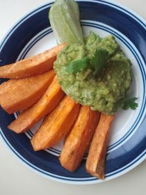 The Daily Dietribe: Grilled Sweet Potato Wedges with Honey Avocado Dip