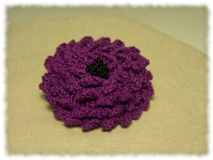 Crochet Flower Pattern Dahlia : Crochet flower Dahlia Crochet creatures Pinterest