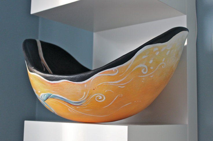 Golden Branch Belly Bowl. By artist Crystal Driedger 2013.