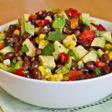Black Bean, Corn, and Red Pepper Salad with Lime Cilantro Vinaigrette ...