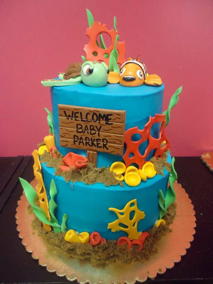 finding nemo themed baby shower cake nemo baby