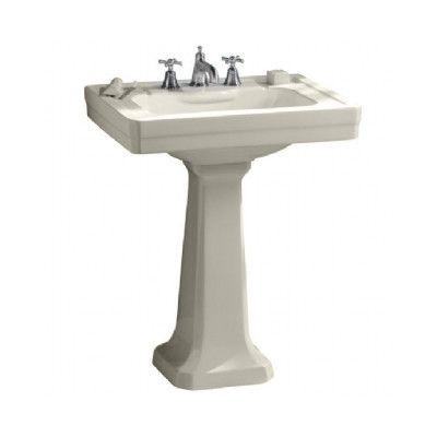 Porcher Pedestal Sink : Porcher Lutezia Pedestal Bathroom Sink Set - 24508 Wayfair