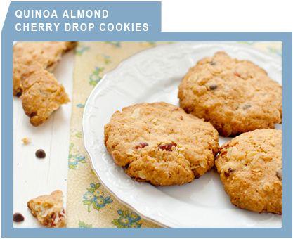 Quinoa Almond Cherry Drop Cookies | Cookies | Pinterest