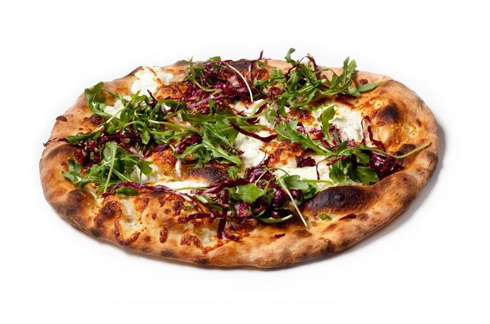 Scallion & Arugula Parmesan Pizza Recipe — Dishmaps