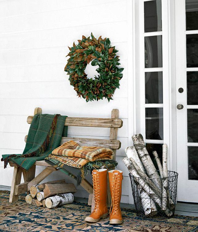 winter porch decor home outdoor space pinterest
