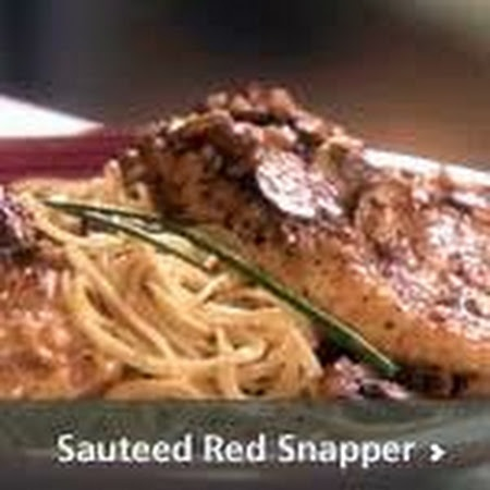 Sauteed Red Snapper w/White Wine Sauce, Rice and Asparagus