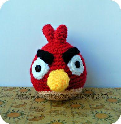 Amigurumi Pájaro Rojo de Angry Birds ( Patrón Gratis en Español