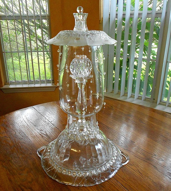 Wedding Centerpiece Upcycled in Glass and by ConfectionsInGlass, $135.00