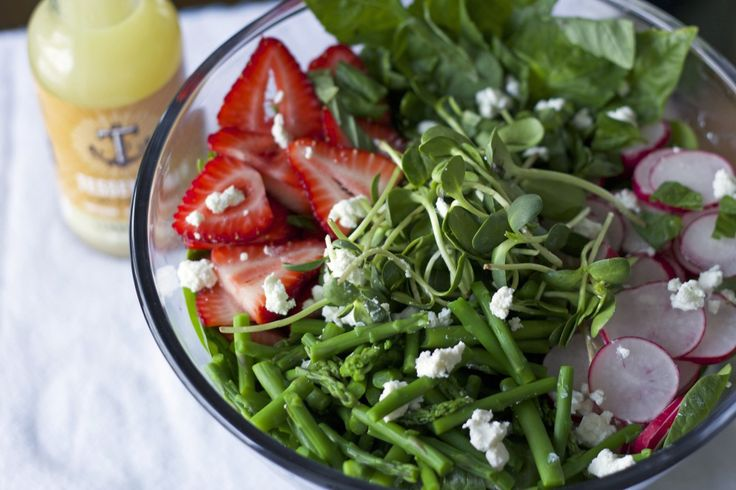 Spring Vegetable Salad with Goat Cheese from thefitnut.com #spring # ...