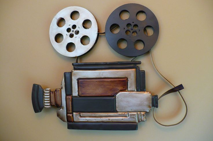 Metal Movie Theater Wall Art Camera And Reels Home Theatre