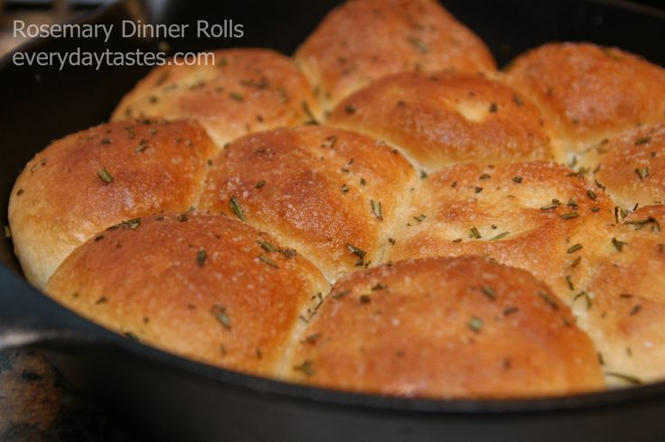 Buttered Rosemary Rolls Recipe — Dishmaps