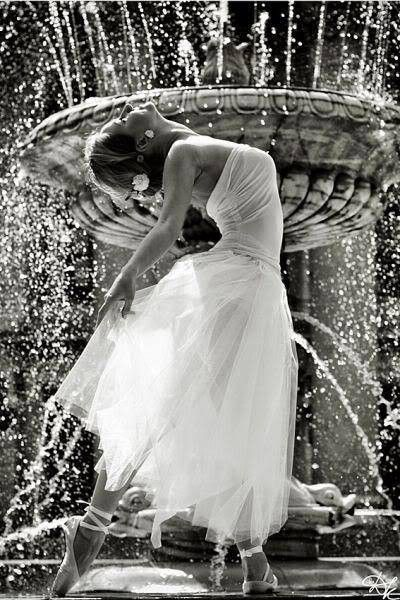 dancing by the fountain