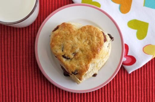 Dried Cherry Scones Valentine's Breakfast