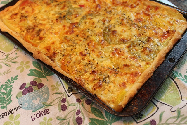 French tomato tart | healthy food | Pinterest