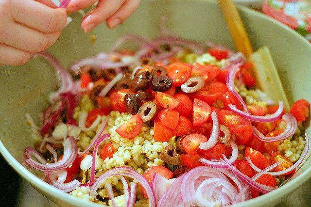 mediterranean eggplant and barley salad by smitten, via Flickr