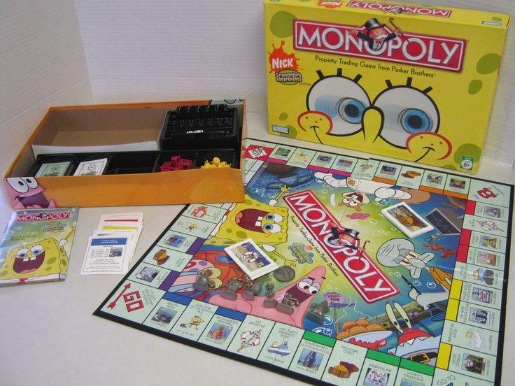 Spongebob monopoly metal tokens patrick sandy squidward mr krab gary