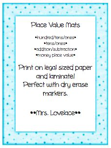 Place Value Mats: Hundreds, Tens, Ones
