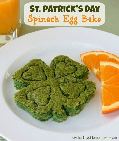Spinach Egg Bake for St. Patrick's Day | The Gluten-Free Homemaker ...