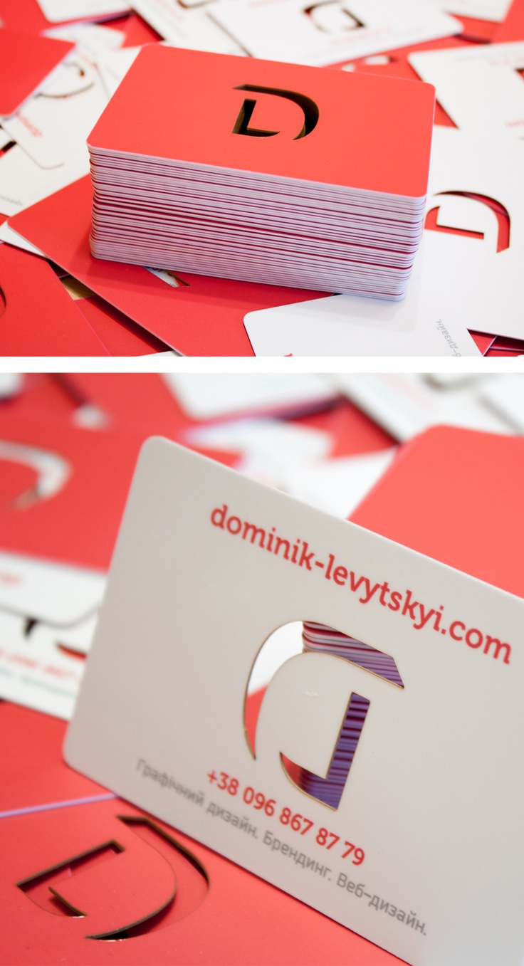 Cut out business card personal branding inspiration for Cutout business cards