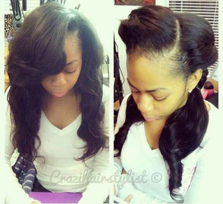 Sew In With Leave Out | Weave | Pinterest
