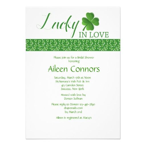 Shower Invitation Lucky in Love Bridal Shower Invitation we are given ...
