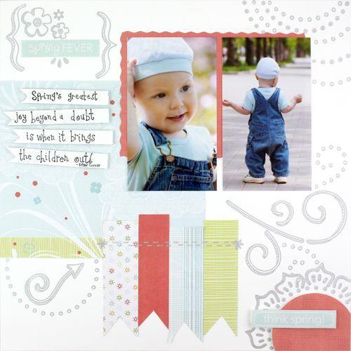 Spring Fever Scrapbook Layout Page Idea...Creative Memories....handmade