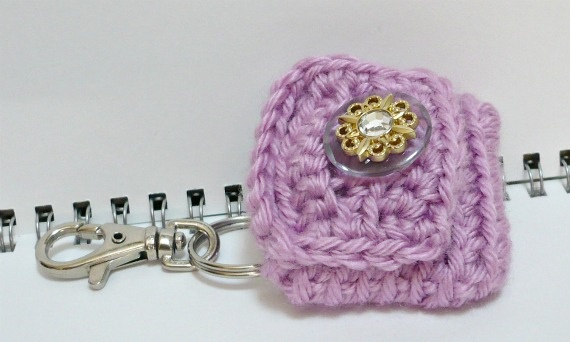 Crochet Quarter Keeper : Crochet Small Change Purse/Coin Pouch/Key Holder in Sweet Lavender by ...