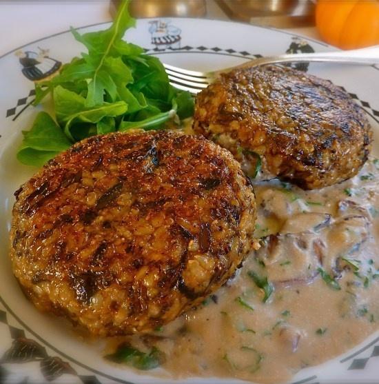 Wild Rice Croquettes with Mushroom Gravy | Wild rice | Pinterest