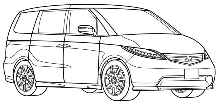 honda civic coloring pages