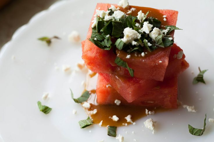 Watermelon and Mint Salad With Feta | Plates + Goblets | Pinterest