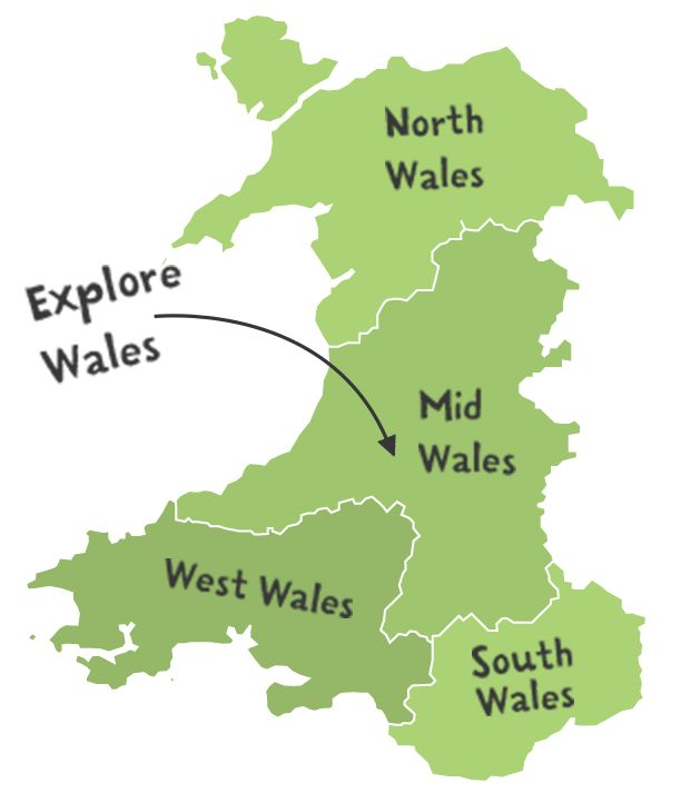 Map of Wales Wales Welsh Things Pinterest