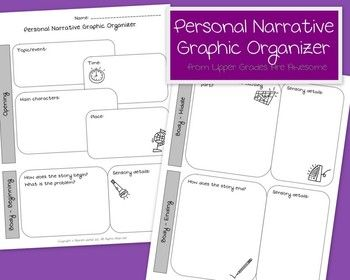 personal narrative writing graphic organizer