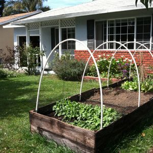 build a raised garden bed cover potting shed pinterest
