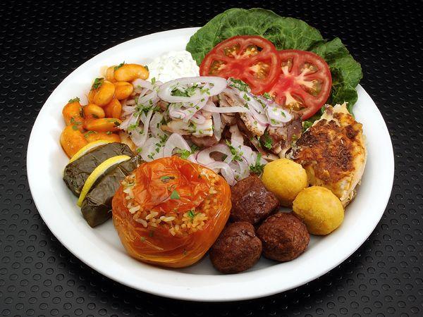 Plate of greek food greek style pinterest for About greek cuisine