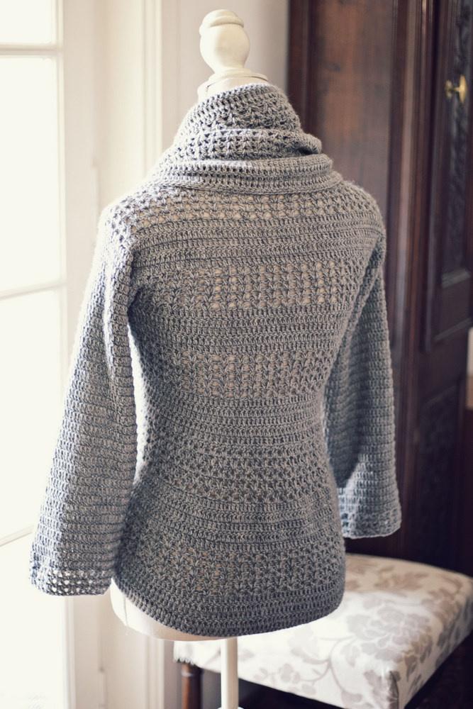 Crochet Pattern Jacket Cardigan : Crochet Cardigan Shrug Pattern - Long Sweater Jacket