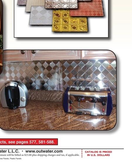 plastic backsplash panels kitchen facelift pinterest