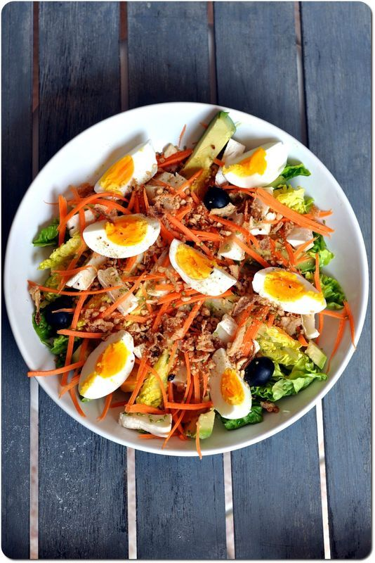salade composée  Food Salades  Pinterest