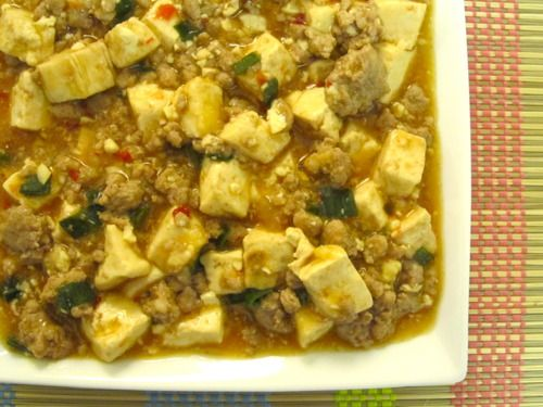 Quick Mao Pao Tofu - taking out the pork and adding broccoli and ...