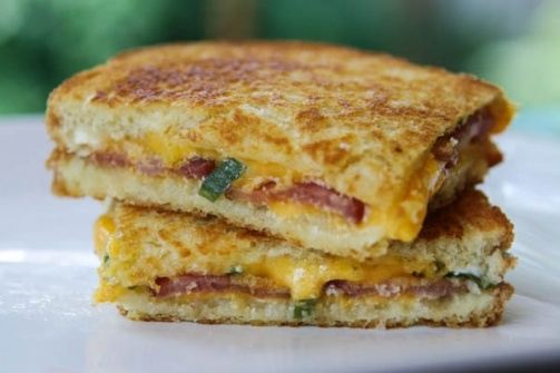 Loaded Baked Potato Grilled Cheese Sandwich | Recipe