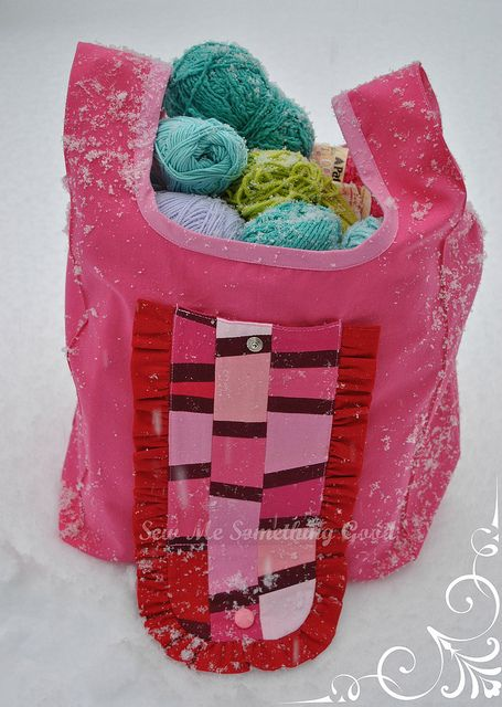 Pink Patchwork Fold'n Roll Shopping Bag filled | Flickr - Photo Sharing!
