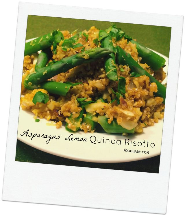 Lemon Asparagus Quinoa Risotto...There are so many great options to ...