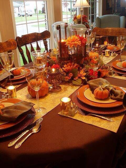 Thanksgiving tablescape party ideas pinterest Thanksgiving table