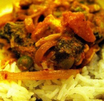 Basmati Rice with Tofu Broccoli Curry | Vegan blowout! | Pinterest