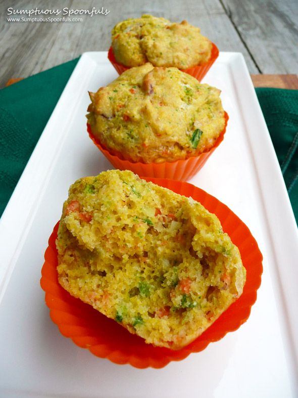 Bacon Broccoli Cheddar Corn Muffins ~ Sumptuous Spoonfuls #savory # ...