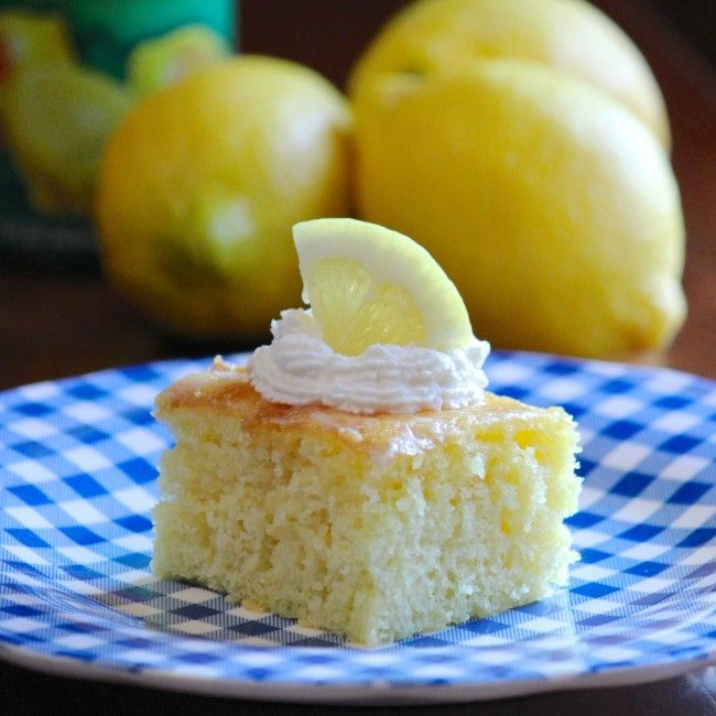 Easy Lemon Poke Cake | Cake - Beautiful Cake | Pinterest