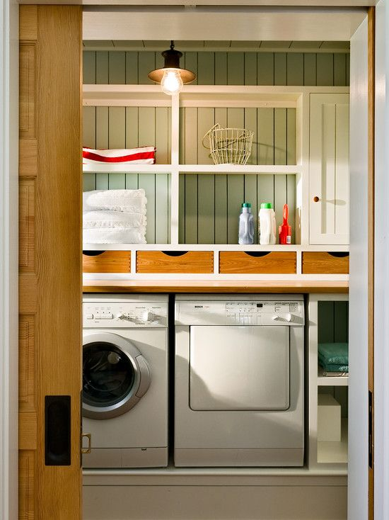 Small Bathroom Laundry Room Combo Design | half bath & laundry