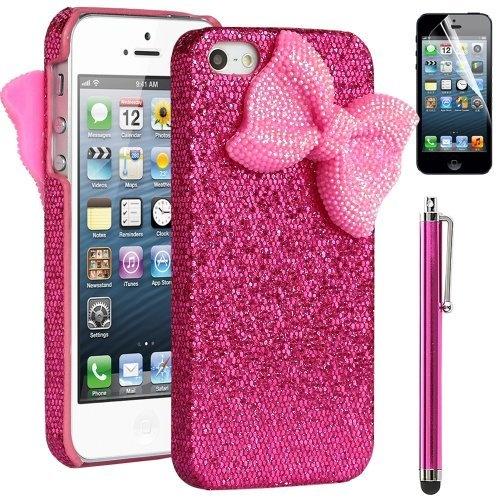 Pandamimi ULAK(TM) Sweety Girls Hot Pink Bling Case Cover Decorated ...