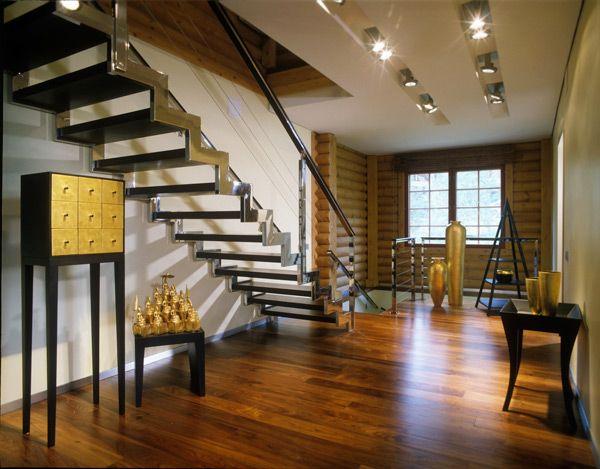 Very cool contemporary log home log home interiors - Modern log home interiors ...