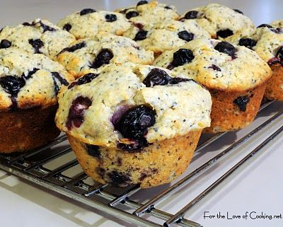 For the Love of Cooking » Lemon Poppy Seed Blueberry Muffins www ...