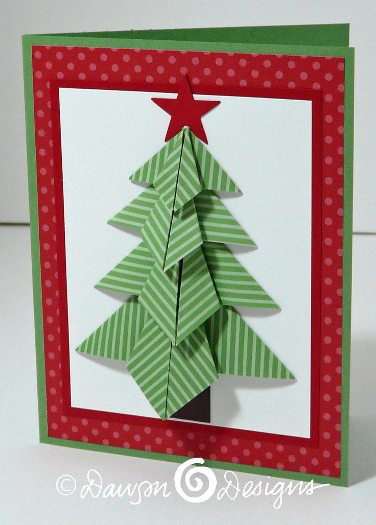 Folded Christmas Tree Card  Cards-Christmas  Pinterest